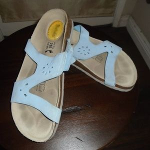 BIRKENSTOCK SANDALS ~ 10 ~ CUT-OUT LEATHER PATTERN